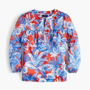 JCrew. Floral motif blouse